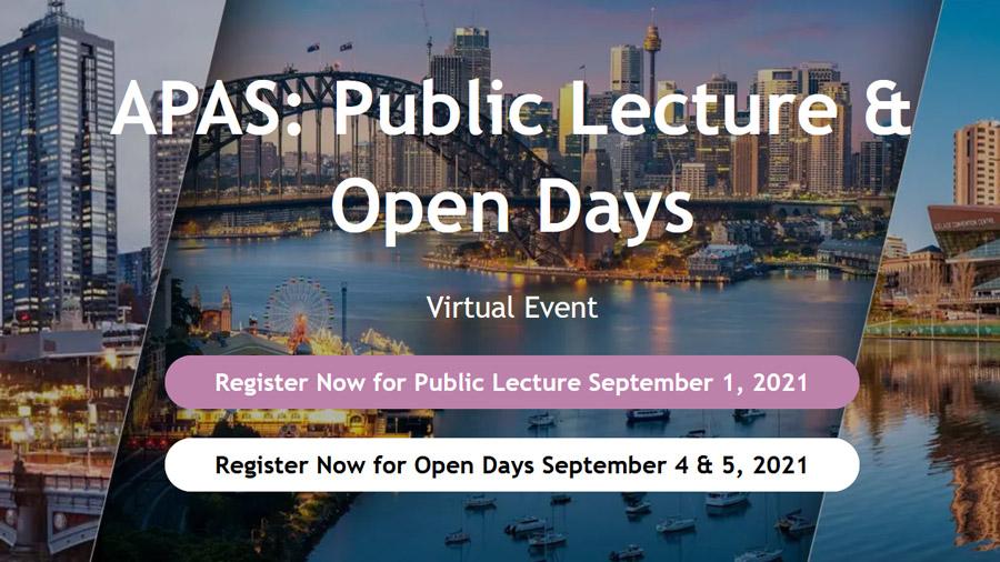 APAS Public Lecture and Open Days